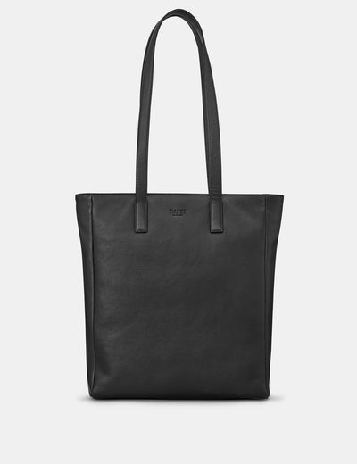 Marlowe Black Leather Shopper Bag - Yoshi