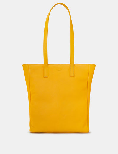 Marlowe Yellow Leather Shopper Bag - Yoshi