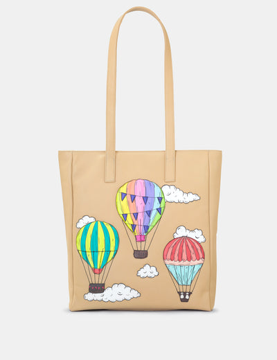 Amongst The Clouds Leather Shopper Bag - Yoshi