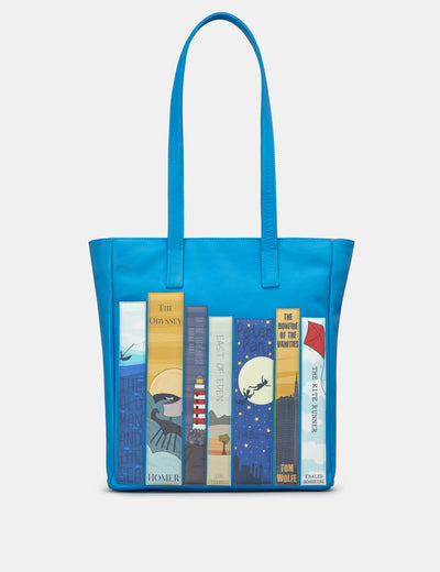 Bookworm Cobalt Blue Leather Shopper Bag - Yoshi