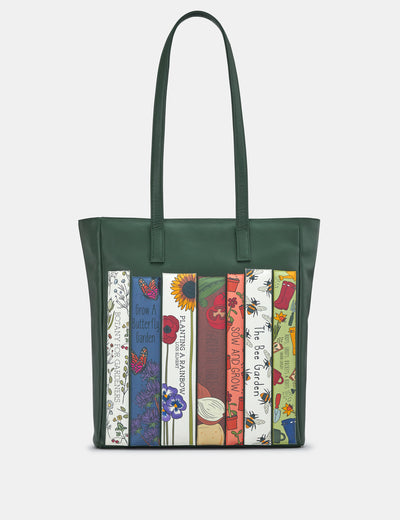 Green Fingers Bookworm Leather Shopper Bag - Yoshi