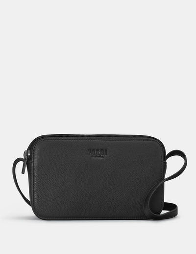 Porter Black Leather Cross Body Bag - Yoshi