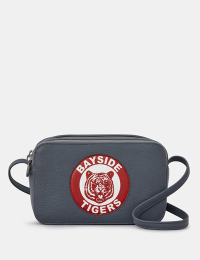 Bayside Tigers Grey Leather Porter Cross Body Bag - Yoshi