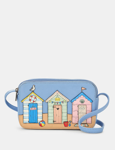 Happy Daze Blue Leather Porter Cross Body Bag - Yoshi