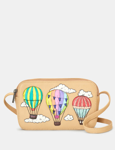 Amongst The Clouds Leather Porter Cross Body Bag - Yoshi