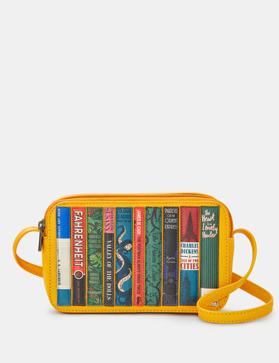 Bookworm Yellow Leather Porter Cross Body Bag - Yoshi