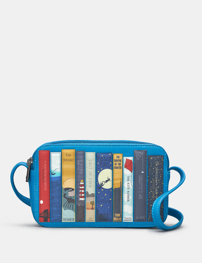 Bookworm Cobalt Blue Leather Porter Cross Body Bag - Yoshi