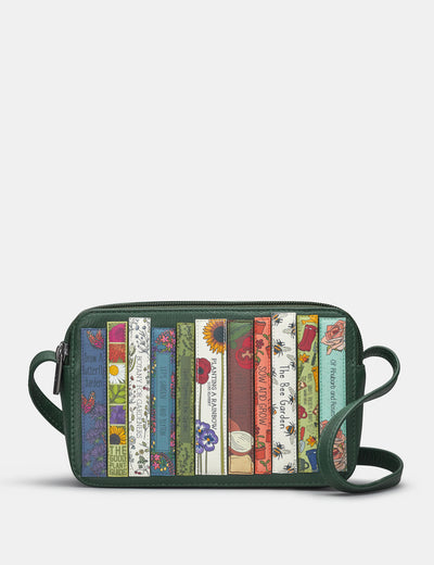 Green Fingers Bookworm Leather Porter Cross Body Bag - Yoshi