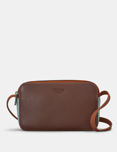 Porter Brown Multi Leather Cross Body Bag - Yoshi