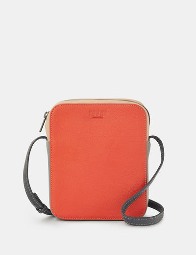 Dylan Coral Multi Leather Cross Body Bag - Yoshi