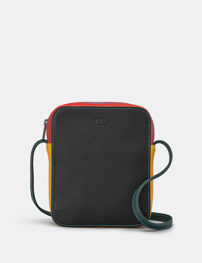 Dylan Black Multi Leather Cross Body Bag - Yoshi