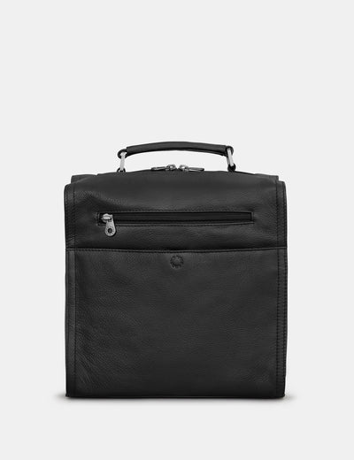 Grayson Black Leather Backpack - Yoshi