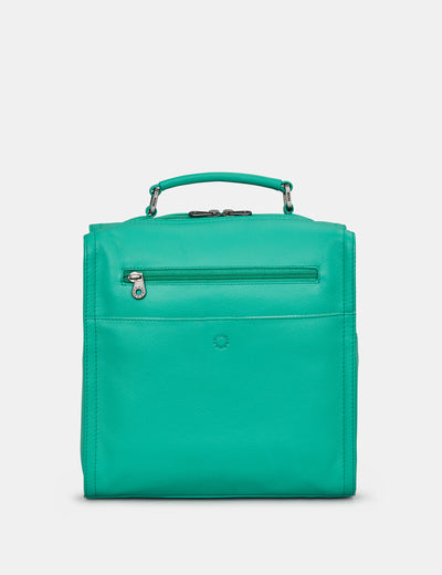 Grayson Jade Green Leather Backpack - Yoshi