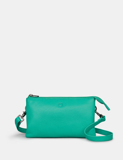 Logan Jade Green Leather Mulitway Cross Body Bag - Yoshi