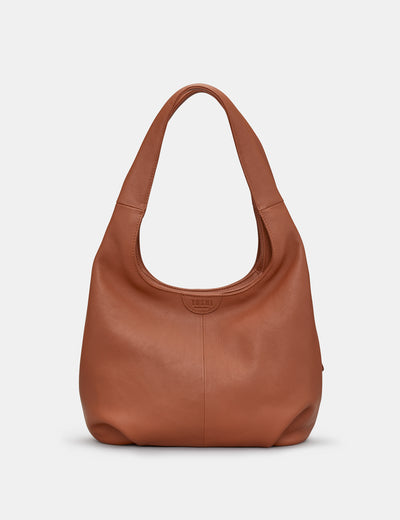 Meehan Tan Leather Slouch Shoulder Bag - Yoshi