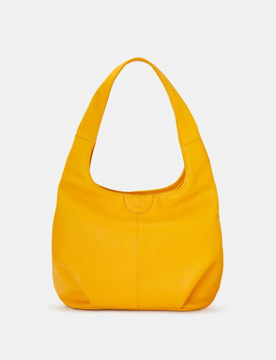 Meehan Yellow Leather Slouch Shoulder Bag - Yoshi