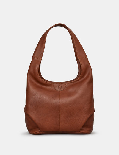 Meehan Brown Leather Slouch Shoulder Bag - Yoshi