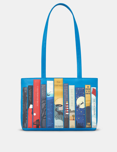 Bookworm Cobalt Blue Leather Shoulder Bag - Yoshi