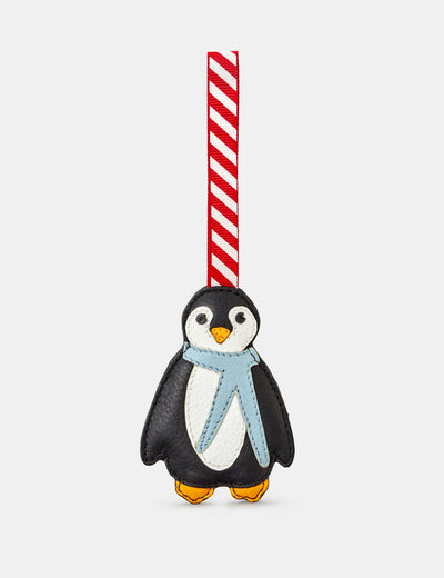 Black Leather Penguin Christmas Tree Decoration - Yoshi