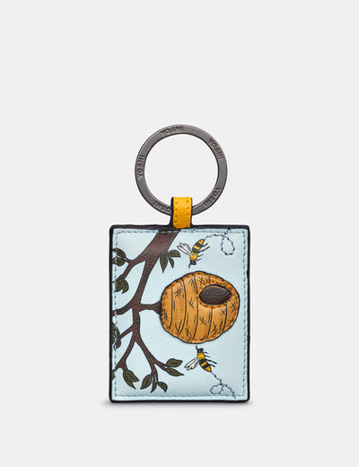 Bee Hive Leather Keyring - Yoshi