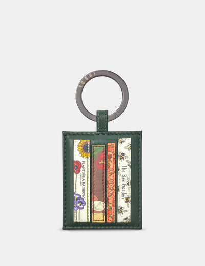 Green Fingers Bookworm Leather Keyring - Yoshi