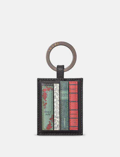 Shakespeare Bookworm Black Leather Keyring - Yoshi