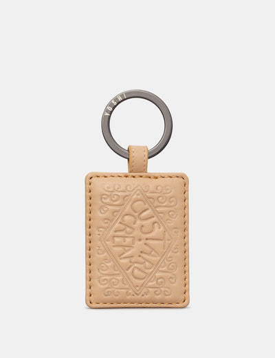 Custard Cream Leather Keyring - Yoshi