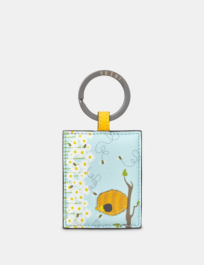 Leather Honey Bee Keyring - Yoshi