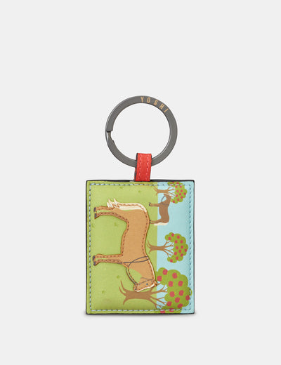 Day At The Stables Leather Keyring - Yoshi