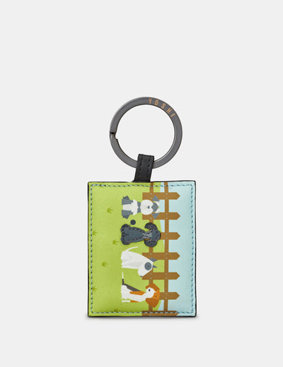 Leather Puppy Dogs Keyring - Yoshi