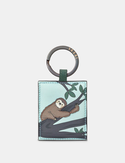 Leather Sloth Keyring - Yoshi