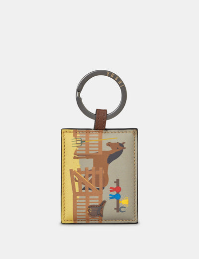 Horse Stables Leather Keyring - Yoshi