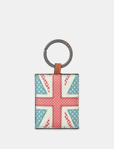 Union Jack Leather Keyring - Yoshi