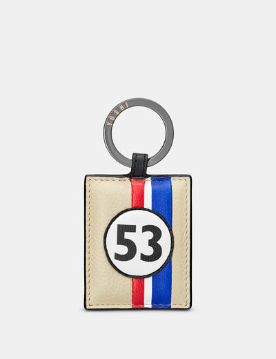 Car Livery #53 Leather Keyring - Yoshi