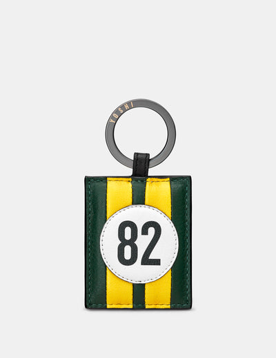 Car Livery #82 Leather Keyring - Yoshi