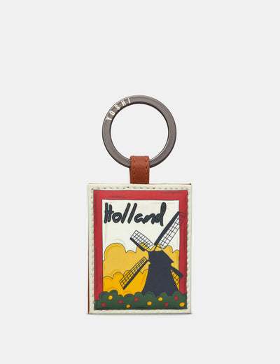 Happy Travels Holland Tan Leather Keyring - Yoshi