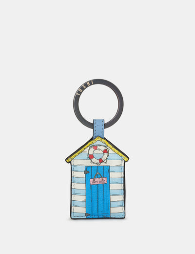 Happy Daze Blue Leather Keyring - Yoshi