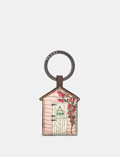 Potting Shed Brown Leather Keyring - Yoshi