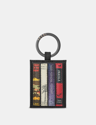Bookworm Black Leather Keyring - Yoshi