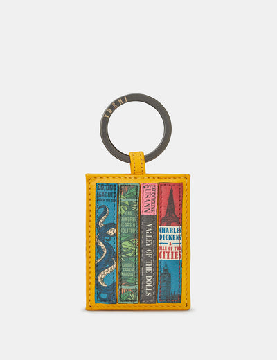 Bookworm Yellow Leather Keyring - Yoshi