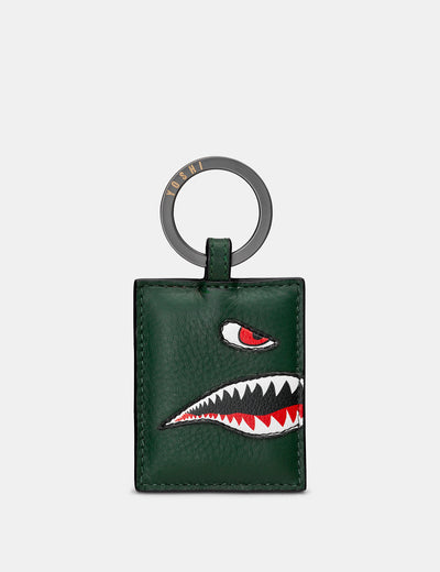 Nose Cone Green Leather Keyring - Yoshi