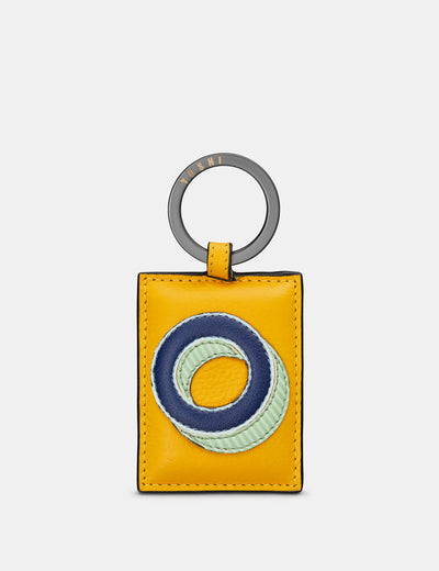 O Monogram Yellow Leather Keyring - Yoshi