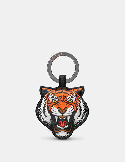 Tiger Black Leather Keyring - Yoshi