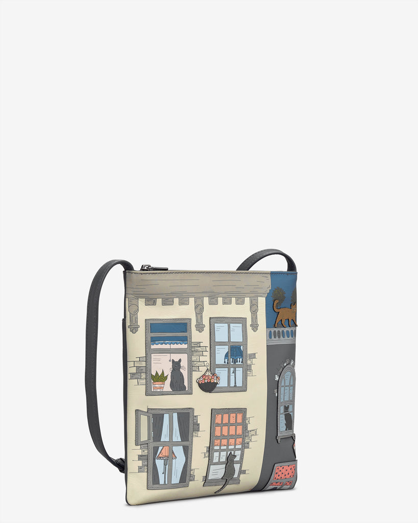 Purrfect Neighbours Leather Cross Body Bag -  - Yoshi