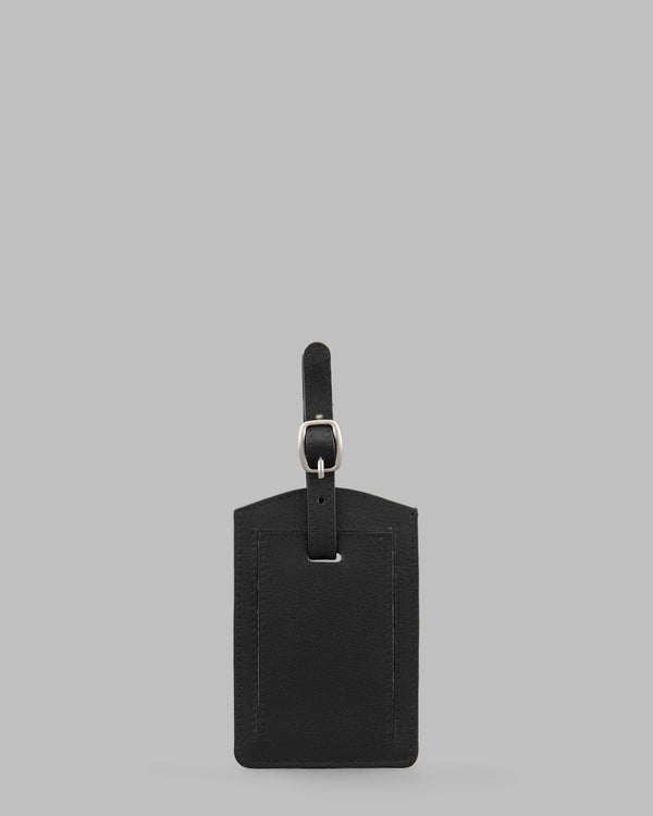 Y by Yoshi Black Leather Luggage Tag A