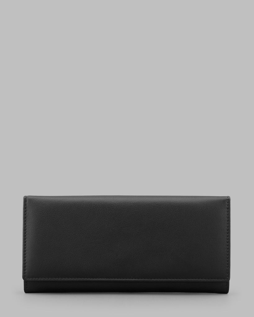 Black Leather Matinee Purse -  - Y by Yoshi