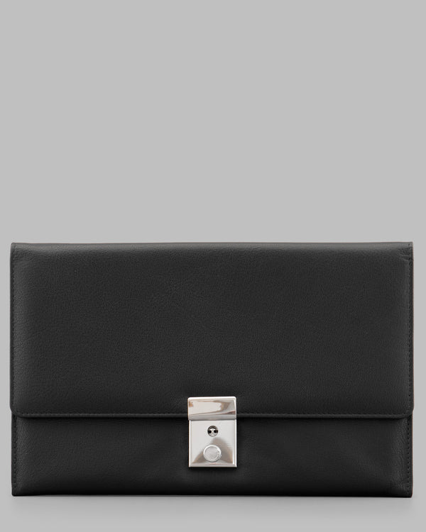 Y by Yoshi Black Leather Travel Document Holder A