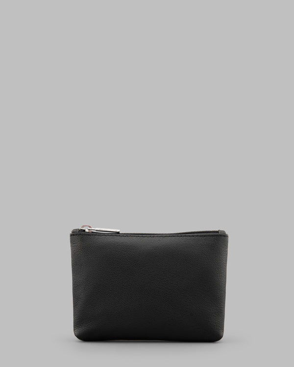 Y by Yoshi Black Leather Zip Top Purse A