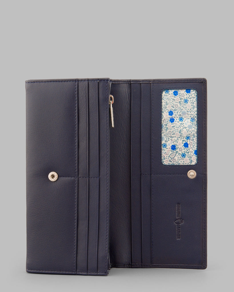 Navy Leather Matinee Purse - Navy - Y by Yoshi