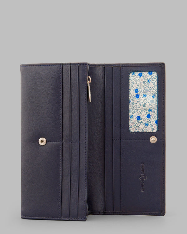 Y by Yoshi Navy Leather Matinee Purse A